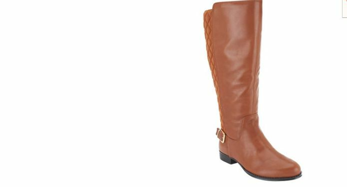 Isaac Mizrahi Live  Leather Riding Boots  wide calf tally saddle 6.5w new