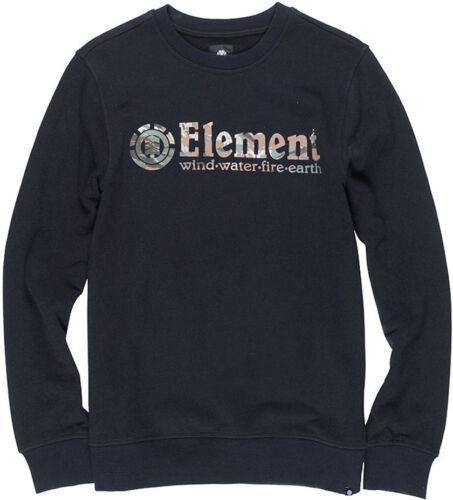 Element Horizontal Fill Crew Full Zip Fleece in Flint Black