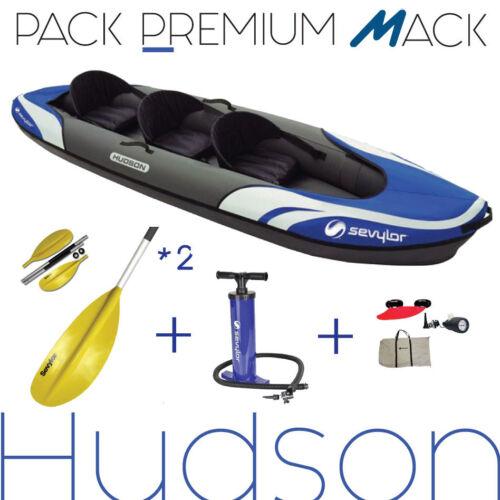 Canadier Packung geliefert mit 2 Paddel und Pumpe HP KAYAK 2/3 places HUDSON SEVYLOR