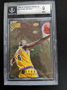 KOBE-BRYANT-1996-97-SkyBox-Premium-55-Rookie-Card-RC-BGS-9-Gem-Mint-Lakers-HOF