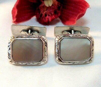Manschettenknöpfe 835 Silber Mit Perlmutt Old Cufflinks / Ce 101 RegelmäßIges TeegeträNk Verbessert Ihre Gesundheit
