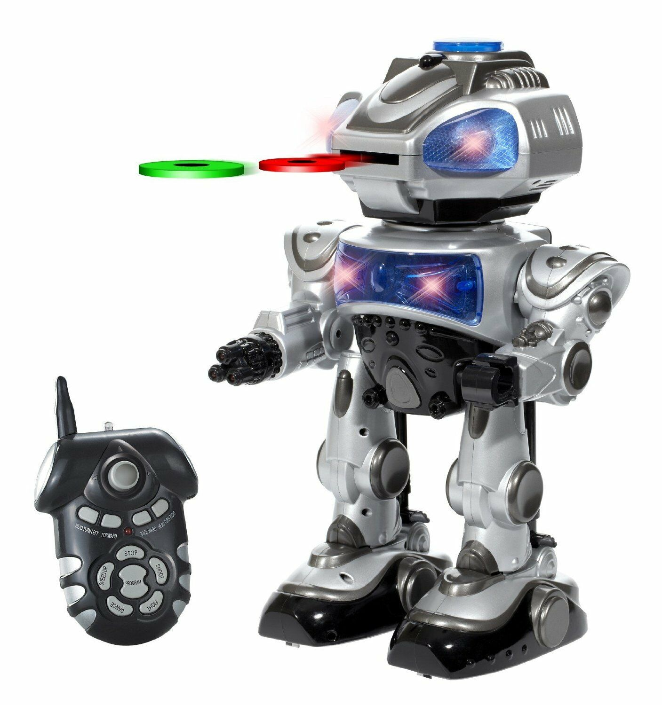 Robo Kid Remote Control Robot Interactive  - Shoots Frisbees Walks Sildes Dances