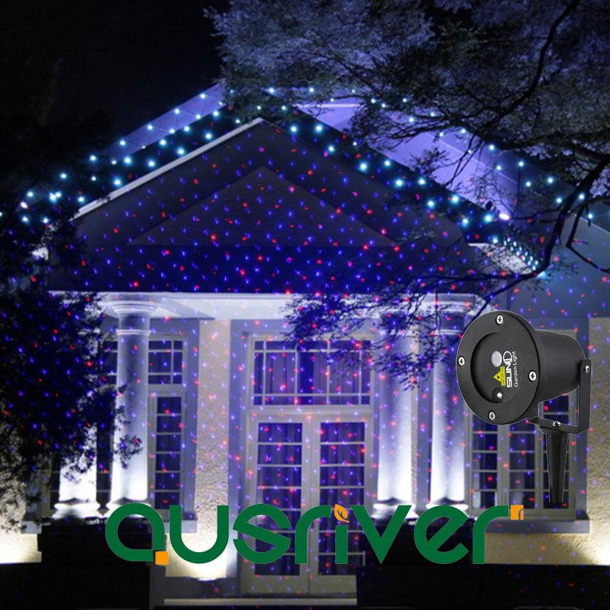 Premium SUNY Outdoor Garden Lawn RB Laser Projector Waterproof Xmas Party Light