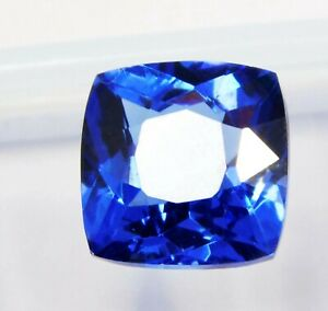 Natural-CERTIFIED-Cushion-Cut-9-Cts-Blue-Sapphire-Loose-Gemstone