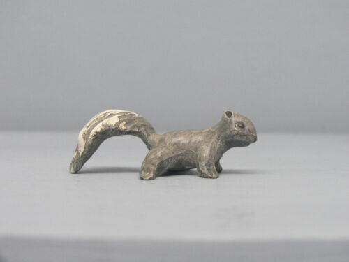 Retired Hagen Renaker Grey Bisque Squirrel Baby
