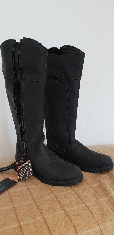 NUOVO CON SCATOLA-Musto stornovaglia Pelle GTX donna Boot-taglia 6 UK. Pelle stornovaglia NERA c8868a