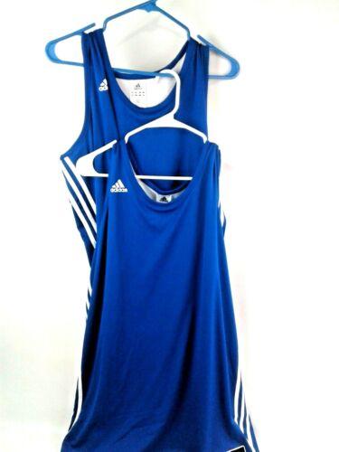 Lot of 2 Adidas Mens Blue Lined Climalite Basketba