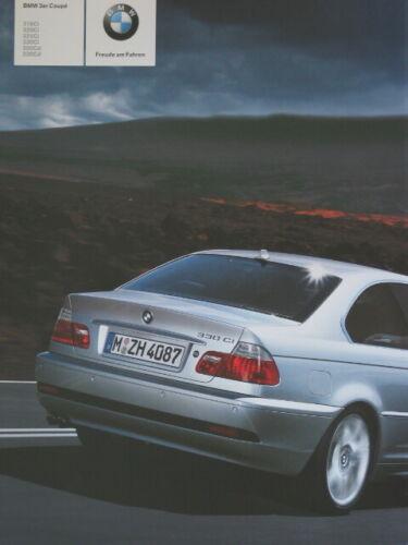 Prospekt Brochure BMW E46 3er Coupé 318Ci 320Ci 325Ci 330Ci 320Cid 330Cd 2 2005