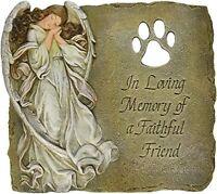 Joseph Studio 63970 Pet Memorial Garden Stone/plaque With Verse In Loving Memory on Sale