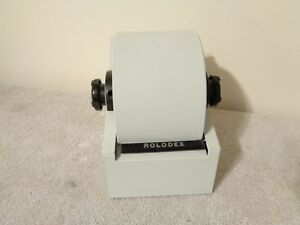 Details about Vintage Rolodex 1753 Mid Century Modern Office Desk Rotary  Phone Card File