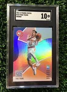 2018-19-Panini-Status-Orange-ROOKIE-RC-Trae-Young-POP-2-142-SGC-10-Comp-PSA-BGS
