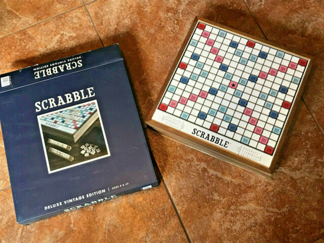 """New """"Open Box"""" Scrabble Deluxe Vintage Edition"""