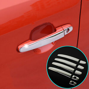 Image is loading FIT-FOR-TOYOTA-CAMRY-COROLLA-RAV4-CHROME-DOOR- & FIT FOR TOYOTA CAMRY COROLLA RAV4 CHROME DOOR HANDLE COVER TRIM ...