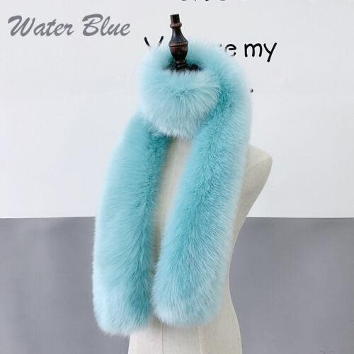 Women/'s Faux Fox Fur Scarf Long Soft Collar Shawl Wrap Stole Fluffy Furry Winter