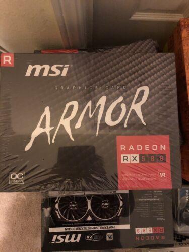 msi VGA Graphic Rx580  Armor 8g Oc New Sealed 602-v341