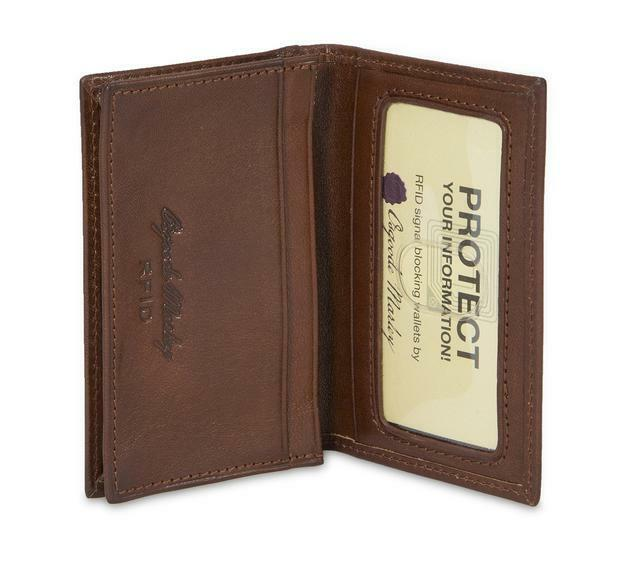 Osgoode Marley 1112 Whiskey Leather RFID Card Case