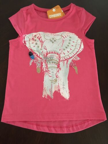 NWT Gymboree Girl Safari Twirl Elephant Tee /& Black Capri Leggings Outfit 4 5 6