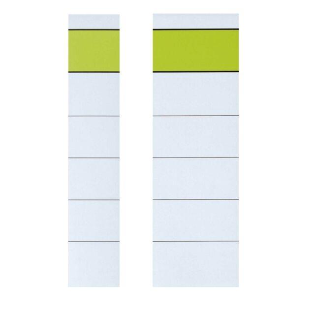 Ordner Rückenschilder zum Einstecken breit + schmal weiß Einsteckrückenschilder