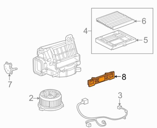 For Toyota Genuine Heater Core Access Cover 8889130680