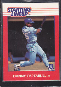 1988  DANNY TARTABULL - Kenner Starting Lineup Card - Kansas City Royals
