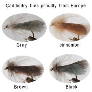 Riverruns-Realistic-Flies-Caddis-Fly-Dry-Colors-Trout-UV-Super-Sturdy-flies