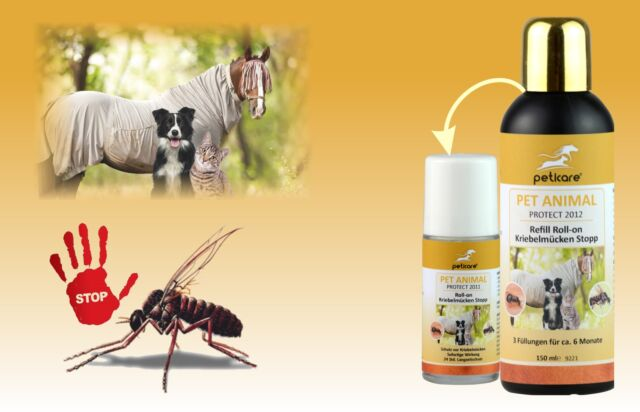 NEU Kriebelmückenstopp von Peticare Sommerekzem durch Kriebelmücken