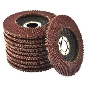 10-x-Flap-Discs-40-Grit-Angle-Grinder-4-5-034-115mm-Flat-Sanding-Grinding-AU025