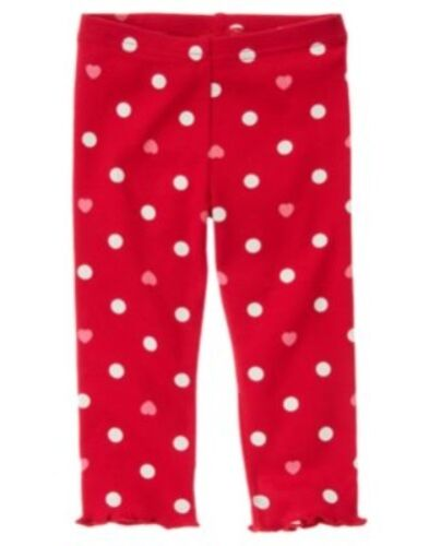 GYMBOREE VALENTINES DAY RED DOTS N HEARTS LEGGINGS 3 6 12 18 24 2T 3T 4T 5T NWT