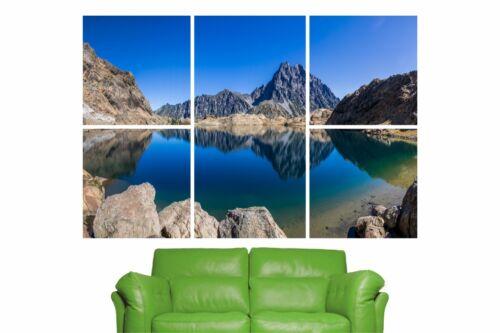 5 Piece Self Adhesive Mountains Lake Mirror Nature Wall Sticker Poster M13-328