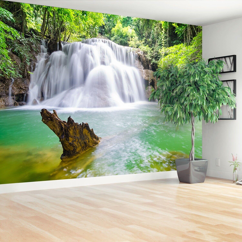 Vlies-Fototapete Fototapeten Tapete aus Vlies Poster Foto Wasserfall im im im Wald c31e75