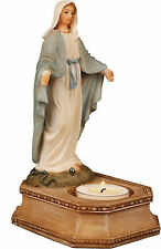 Miraculous Mary Candle holder Resin Statue or Font Holy Religious Gift