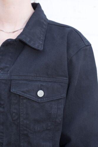 Brandy Veste Boutonné Jeans En Kaylee Noir Coton Avec Melville Étiquettes Neuf ZqXrwZ