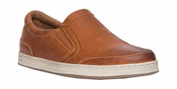 Propet Men's Logan Sneaker Brown Burnished Nubuck