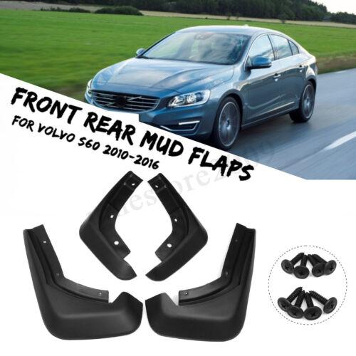 4X Front Rear Mud Flaps Guard Mudguard Splash Fender For Volvo S60 Sedan