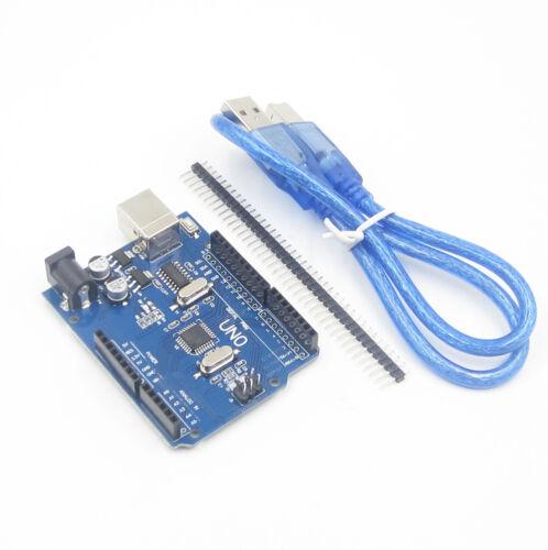 NEW Version UNO R3 ATmega328P CH340 Free USB Cable Compatible to Arduino