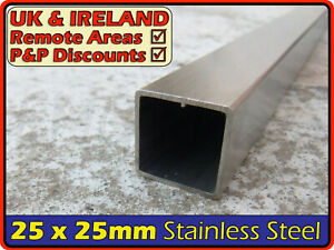 Stainless Steel Square Tube ║25 x 25 mm║ box section iron,profile,tubing,pipe