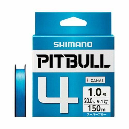 Shimano Pitbull X4 Super Blue 150m 8.6lb 3.9kg #0.4 Braided PE Line 572653