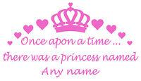 Personalised Name Princess/Crown Wall Art,Girl/Kids Bedroom,Custom Vinyl Sticker
