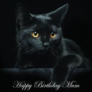 Image Is Loading Mum Birthday Card Black Cat Fast Despatch Amp