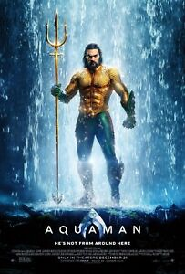 AQUAMAN POSTER FILM A4 A3 A2 A1 LARGE FORMAT GLOSS CINEMA MOVIE #2