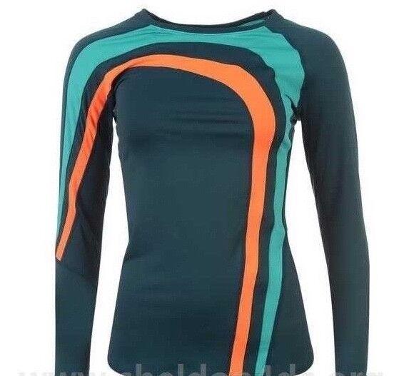 YAS Booster Ladies Long Sleeve Thermal Top Training Breathable Navy Medium 1