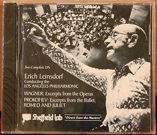 SHEFFIELD Lab CD 7/8: WAGNER Excerpts, PROKOFIEV Romeo Juliet Leinsdorf, 1978 SS