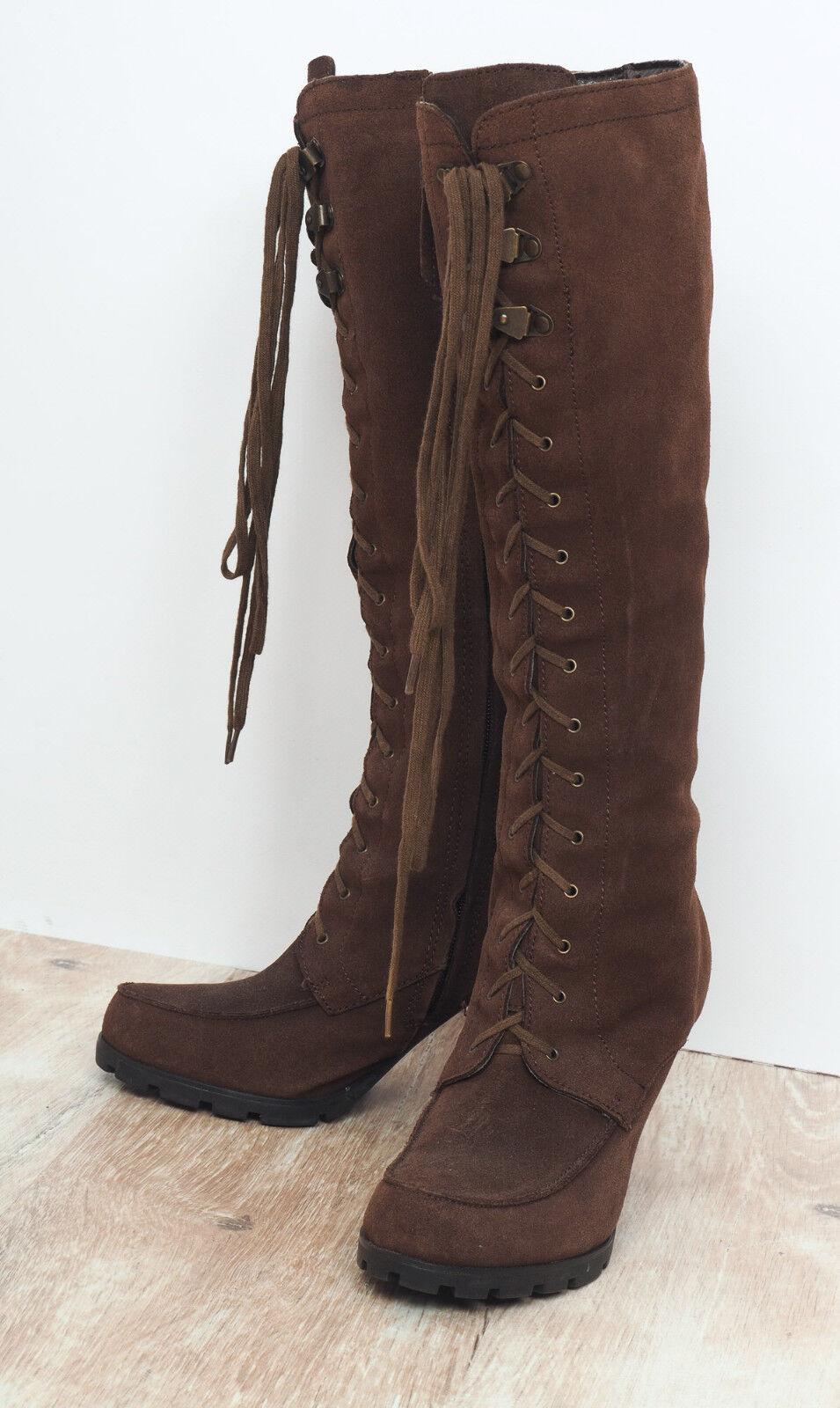 vieni a scegliere il tuo stile sportivo LAUREN by Ralph Lauren Lauren Lauren Donna  Marrone Leather stivali Dimensione EU 37.5    esclusivo