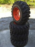 4 12-16.5 Foam Filled Galaxy Beefy Baby Iii Tires & Rims For Bobcat-12x16.5