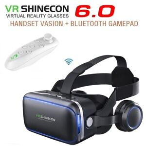 Virtual-Reality-Headset-360-VR-3D-Glasses-Remote-Gamepad-Goggles-Mobile-phone