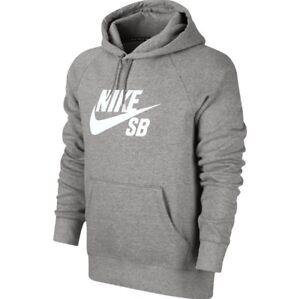 Details zu NIKE SB Pullover Hood Grau M