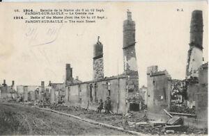 Cpa 1914 Bataille de la Marne du 6 au 12 sept. Pargny sur Saulx - La grande rue