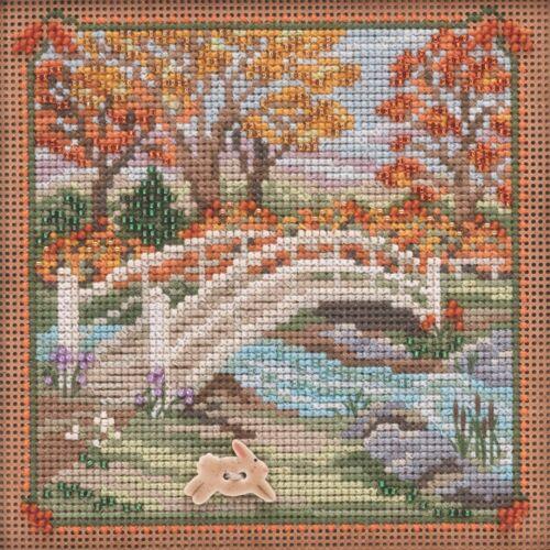 Foot Bridge Cross Stitch Kit Mill Hill 2019 Buttons /& Beads Autumn MH141925
