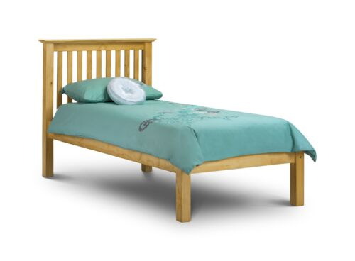 BARCELONA SOLID PINE BED FRAME IN SINGLE 90cm 3ft  LOW FOOT END by Julian bowen