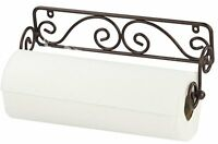 Home Basics Bronze Wall Mounted Paper Towel Holder, New, Free Shipping on sale